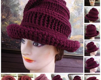 Crochet Floppy Hat Pattern,  Crochet Pattern Hat,  Womens Hat Pattern,  Womens Crochet Hat Pattern,  Virginia Wide Brim Hat