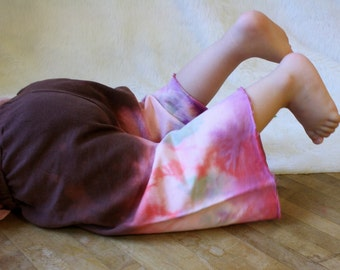 Organic Yoga Pants Bloomers with Tie Dye legs and Pockets