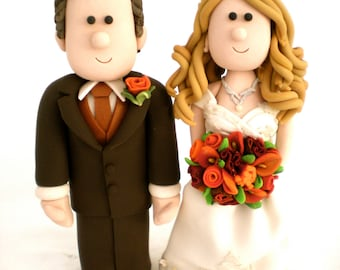 Custom made personalized wedding cake toppers- Handmade to order