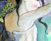 "Girl With Corset- 6""x12"" Fine Art Reproduction  by Maria Pace-Wynters"