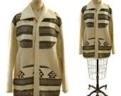 1970s Southwest Blanket Jacket / Vintage Bohemian Ranch Jacket