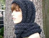 Instant Download Knitting Pattern - Knit Hood Pattern - Knit Hat Pattern Gretel Wrap Hood Pattern - Womens Hat Pattern - Womens