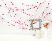 SweetHearts 20' Paper GARLAND, Wedding, Bridal Shower Home Decor, Birthday, Holiday, Children, Love