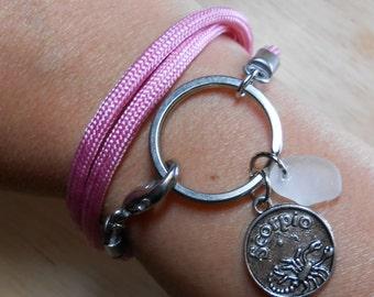 Sea Glass Wrap Bracelet - Nautical Ring Jewelry - TRAVELLER