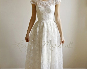 Ellie Long --2 Piece, Lace and Cotton Wedding Dress - Sample Sale