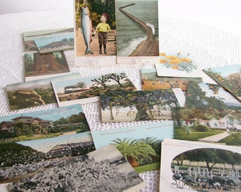 26 Postcards Scenic California 1906 Antique Ephemera Souvenirs Travel Color