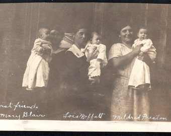 Vintage photo Baby Lois and her First Friends RPPC