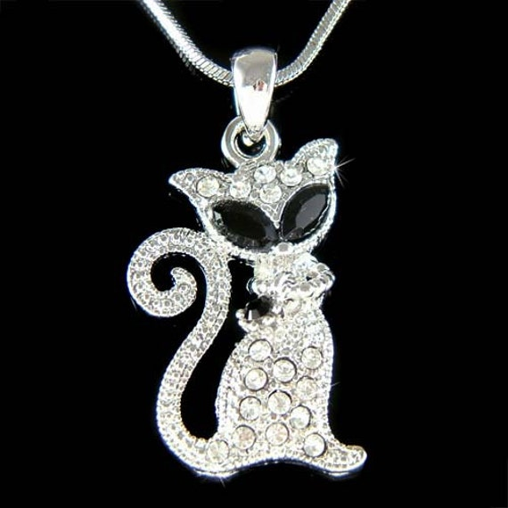 Black Cat Charm Swarovski