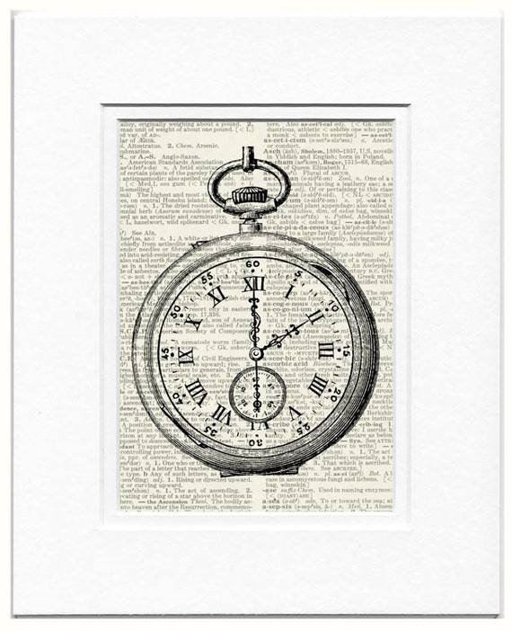 Pocket Watch with Custom Time Setting print