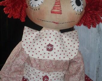 Primitive Raggedy Ann INSTANT DOWNLOAD PATTERN #153 My Favorite Annie Hafair Faap