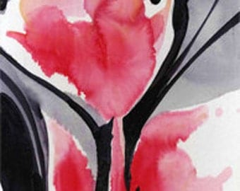 Organic Impressions ... No. 3 ... Original Abstract Floral Painting by Kathy Morton Stanion EBSQ