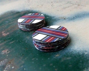 Tartan Plaid Paper Stickers, Navy Blue, Red, Black, Letter Writing Envelope Seals, Round Packaging Stickers