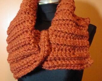 Rust Scarf - Crochet Cowl - Custom Colors