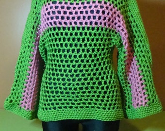 Crochet Pullover - AKA Sorority Colors - Custom Colors Available