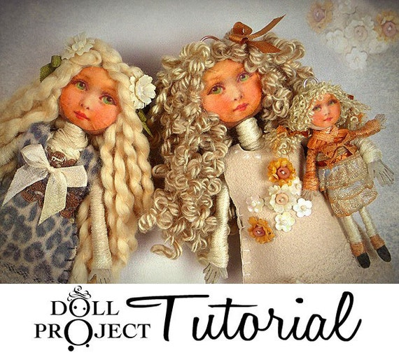Make a Doll Tutorial - Complete Bendy Dolls TinyMake Thawed Charlottes Workshop