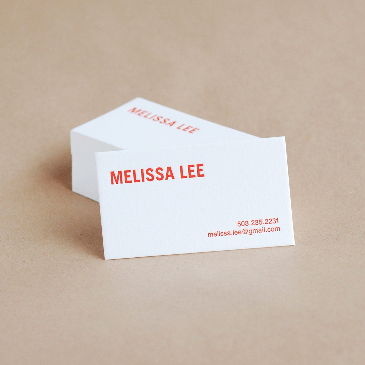 Letterpress Business Cards Bold Modern Personalized Calling