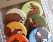 Forest Animal Magnets--Original Artwork--Nature Lover Gift