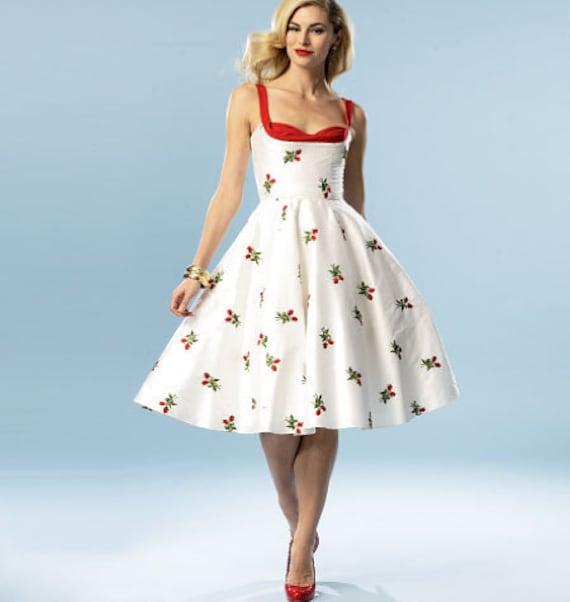 DIY Sewing Pattern-Butterick 5882-Pin up Girl Dress Bettie