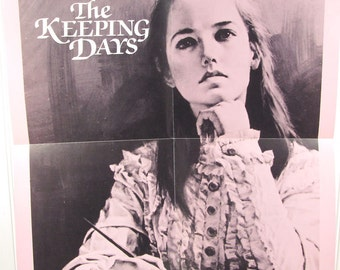 Vintage Book Advertising Poster - The Keeping Days by Norma Johnston - Historical Fiction Novel