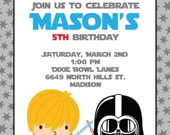 Printable Star Wars Inspired Birthday Party Invitation