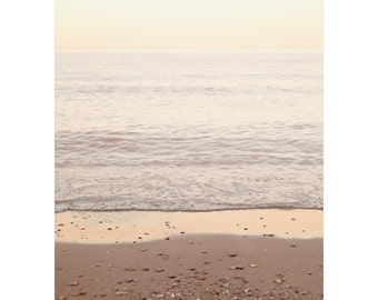 Coastal Wall Art - Beach Artwork - Zen Nature Photography - Beach Decor for Living Room - Large Vertical Bedroom Wall Art - Brown Gold