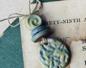 Coral Reef- handmade ceramic pendant set- pastel