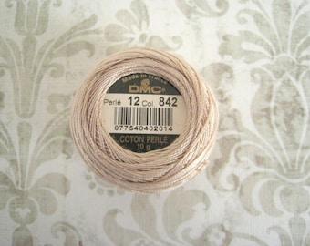 DMC 842 Very Light Beige Brown Perle Cotton Thread Size 12
