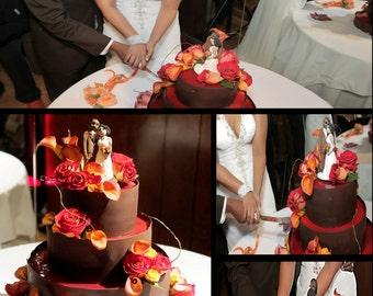 Custom Bride Groom  Wedding Cake Topper
