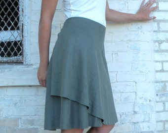 Organic Cotton & Hemp Mid Length Wrap Skirt