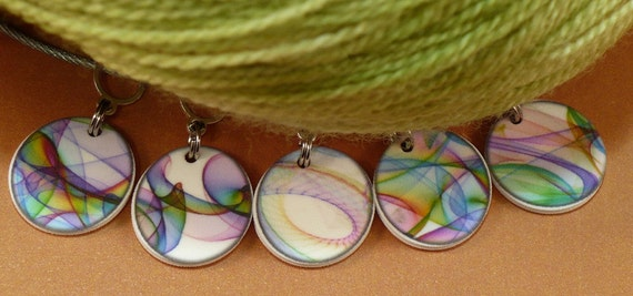 Silken RAINBOWS stitchmarkers for KNITTERS