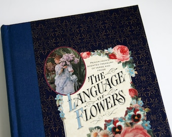 Victorian Ephemera Book - The Language Of Flowers - Masters Art -  Botanical Illustrations - Edwardian - Valentine's