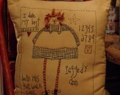 Handstitched Raggedy Ann Pillow