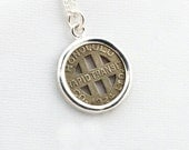 Honolulu Hawaii Transit Token Sterling Silver Pendant and Necklace
