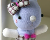 Sock BUNNY with Removable Head pin - 9.5 inches