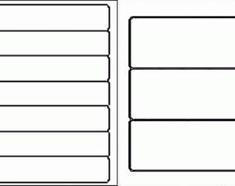 Blank White Labels 10 sheets (READ DESCRIPTION)