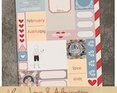 Love and Admiration oo1 | Vintage Valentine Paper Ephemera | Printable Collage Sheet