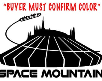 Space Mountain attraction vinyl decal, sticker - NEW