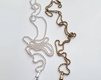 Ball chain, Sterling Silver Plated & Brass Plated Lanyards