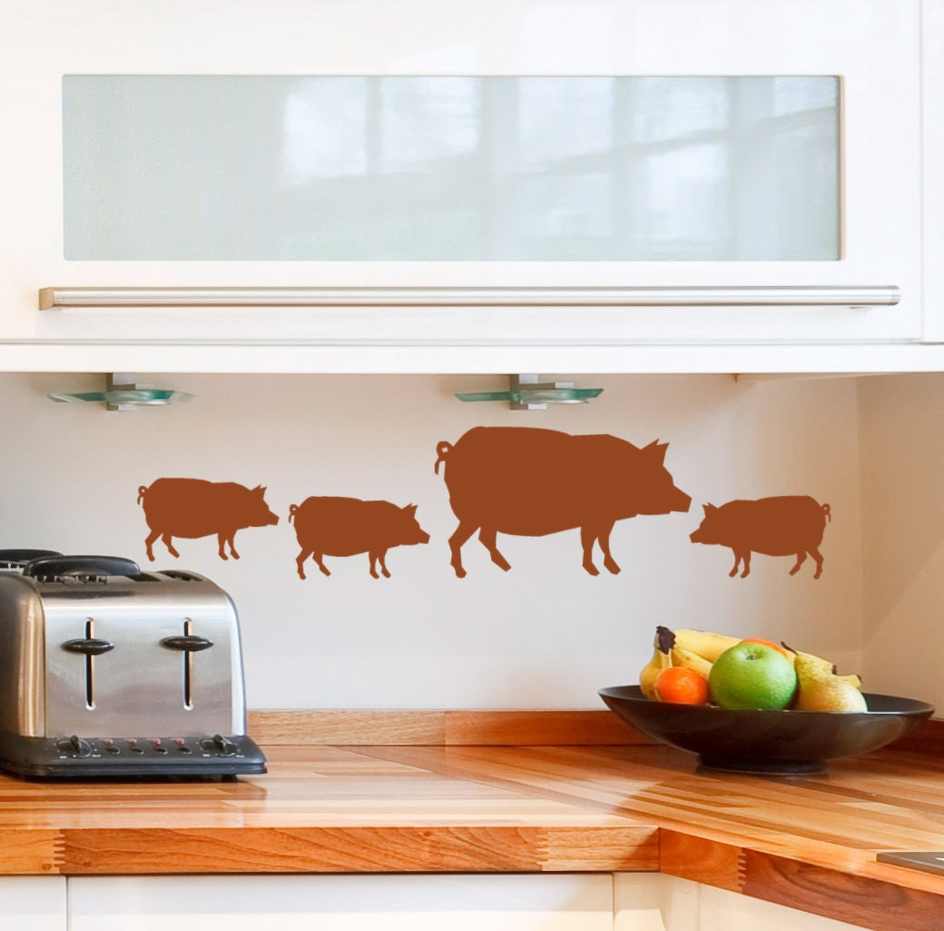 Pig Decor Pig Wall Decals Pig Stickers Farmhouse Decorations