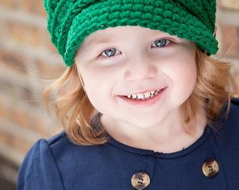 Toddler Newsboy Cap 2T to 4T Toddler Girl Newsboy Hat Toddler Boy Newsboy Toddler Hat Toddler Girl Hat Toddler Boy Hat Emerald Green Newsboy
