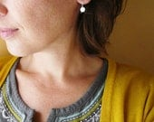 Tiny Silver Dot Earrings. Sterling Silver Circle Drop Earrings. Sterling Silver Drop Earrings. Tiny Silver Earrings. Silver Dot Earings.