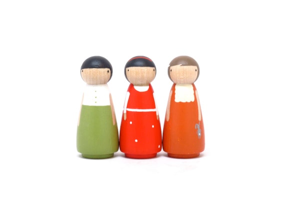 Gifts Babys & Kids Toys Wooden // The Wysocki Sisters // Natural Wooden Dolls Wooden Toys Little People Waldorf