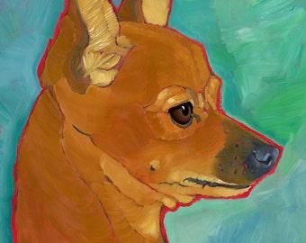 Chihuahua No. 1 - magnets, coasters and art prints