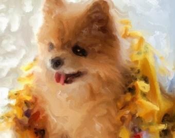 Custom - One of a Kind - Pet Portrait Digital Painting - Art by Ruby