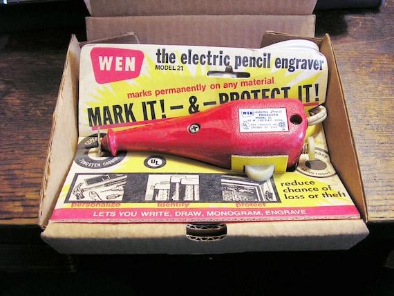Vintage Electric Pencil Hand Engraver, WEN Model 21, unused old stock
