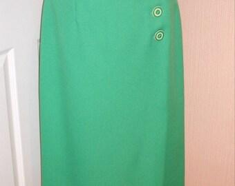 1950s Inspired Wrap-Over Skirt