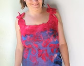 Nuno Felted Silk Top ( S or M size)