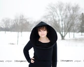 Plus size Cowl Hood Knit Top Long Sleeve - Katie Sweater- Custom To Order 2XL and above
