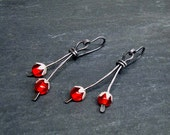 Winter Berries- handmade earrings