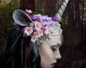 Einhorn-Nymphe und Ohr Kopfschmuck